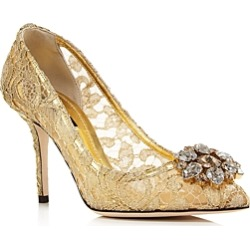 Dolce & Gabbana Women's Lace Embroidered Pumps found on Bargain Bro India from bloomingdales.com for $995.00