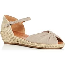 Gentle Souls Women's Lucille Suede Demi Wedge Espadrille Sandals
