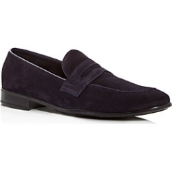 The Men's Store at Bloomingdale's Men's Suede Apron Toe Penny Loafers - 100% Exclusive found on Bargain Bro UK from Bloomingdales UK