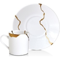 Bernardaud Kintsugi-Sarkis Cup & Saucer, Set of 6 found on Bargain Bro Philippines from bloomingdales.com for $1030.00