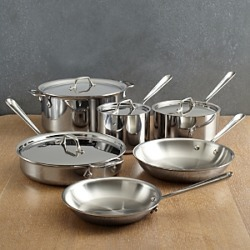 All Clad D3 Stainless Steel 3-Ply Bonded 10-Piece Cookware Set found on Bargain Bro from Bloomingdales Canada for USD $554.49