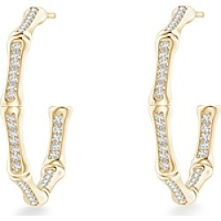 Natori 14K Yellow Gold Diamond Small Hoop Earrings found on Bargain Bro India from bloomingdales.com for $1830.00