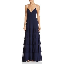 Fame and Partners Rosen Tiered-Pleat Gown