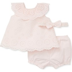 Little Me Girls' Eyelet Cotton Sunsuit & Headband Set - Baby found on Bargain Bro India from bloomingdales.com for $38.00