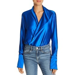 Alix Reade Silk Crossover V-Neck Bodysuit found on MODAPINS from Bloomingdale's Australia for USD $420.60