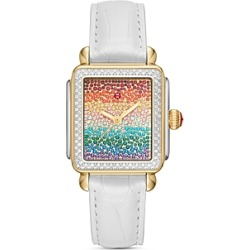 Michele Deco Full Rainbow Diamond Watch, 33mm x 35mm found on MODAPINS from bloomingdales.com for USD $5995.00