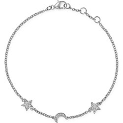Bloomingdale's Pave Diamond Moon & Star Bracelet in 14K White Gold, 0.10 ct. t.w. - 100% Exclusive found on Bargain Bro UK from Bloomingdales UK