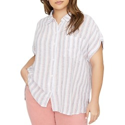 Sanctuary Curve Linen Striped Shirt found on Bargain Bro India from bloomingdales.com for $79.00