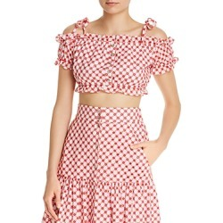 Paloma Blue Ivy Cold-Shoulder Crop Top found on Bargain Bro India from Bloomingdale's Australia for $63.03