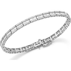 Baguette and Round Diamond Tennis Bracelet in 14K White Gold, 3.25 ct. t.w. - 100% Exclusive found on Bargain Bro UK from Bloomingdales UK
