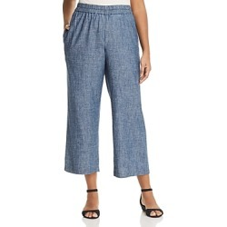 Eileen Fisher Plus Straight Pull-On Pants
