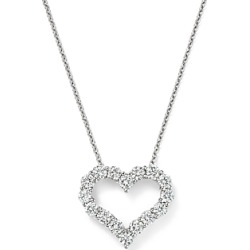 Diamond Heart Pendant Necklace in 14K White Gold, 1.0 ct. t.w. - 100% Exclusive found on Bargain Bro UK from Bloomingdales UK