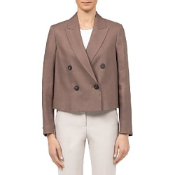 Peserico Double Breasted Crop Blazer found on Bargain Bro Philippines from bloomingdales.com for $647.20