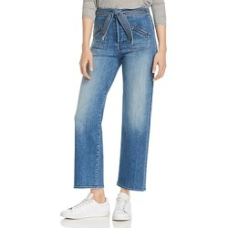 Mother The Rambler Tie-Waist Straight-Leg Jeans in Hop On Hop Off found on Bargain Bro India from bloomingdales.com for $268.00