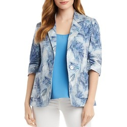 Karen Kane Palm Print Ruched-Sleeve Jacket found on Bargain Bro Philippines from bloomingdales.com for $138.60