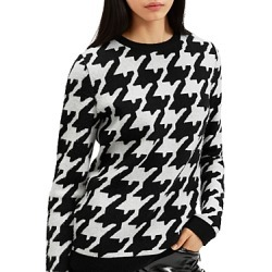 Barbara Bui Oversized Houndstooth Print Wool & Cashmere Sweater found on MODAPINS from Bloomingdales UK for USD $512.84