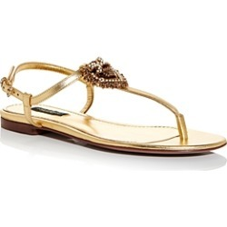 Dolce & Gabbana Women's Embellished Thong Sandals found on Bargain Bro UK from Bloomingdales UK
