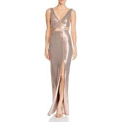 Bcbgmaxazria Sequined Cutout Evening Gown