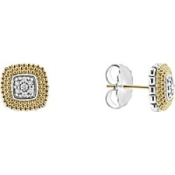 Lagos 18K Gold and Sterling Silver Diamond Lux Square Stud Earrings found on Bargain Bro India from Bloomingdales Canada for $938.77