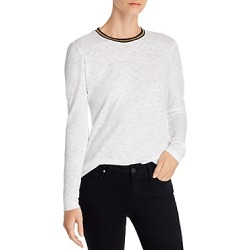 Goldie Metallic Trim Long-Sleeve Tee found on MODAPINS from Bloomingdales Canada for USD $103.75