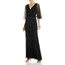 Adrianna Papell Beaded Flutter-Sleeve Gown - 100% Exclusive found on MODAPINS from Bloomingdales UK for USD $179.98