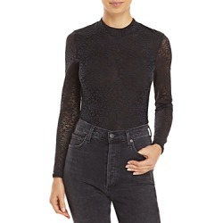 Jonathan Simkhai Maddox Lace Mock Neck Bodysuit found on MODAPINS from bloomingdales.com for USD $325.00