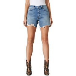 Grlfrnd Jourdan Distressed Jean Shorts in Mystic found on MODAPINS from Bloomingdales UK for USD $100.25