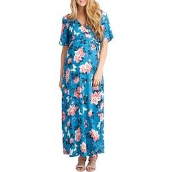 Nom Maternity Landon Floral Print Maxi Nursing Dress found on Bargain Bro India from bloomingdales.com for $108.00