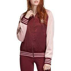 Adidas Color-Block Satin Bomber Jacket found on MODAPINS from bloomingdales.com for USD $64.00