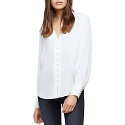 L'Agence Alicia Silk Ruffle Neck Blouse found on Bargain Bro from Bloomingdales Canada for USD $139.85