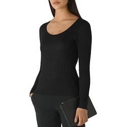 Whistles Sparkle-Knit Cable Sweater found on Bargain Bro UK from Bloomingdales UK