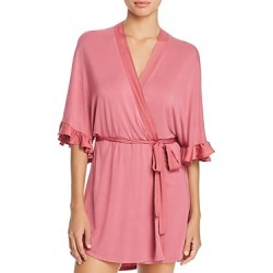 Josie Satin-Trim Wrap Robe - 100% Exclusive found on MODAPINS from Bloomingdales UK for USD $32.38