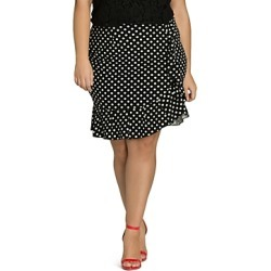 City Chic Plus Dotted Faux-Wrap Ruffle Skirt found on MODAPINS from Bloomingdale's Australia for USD $62.28