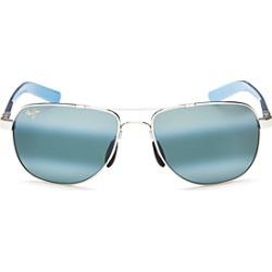 Maui Jim Unisex Guardrails Polarized Brow Bar Aviator Sunglasses, 58mm found on Bargain Bro UK from Bloomingdales UK