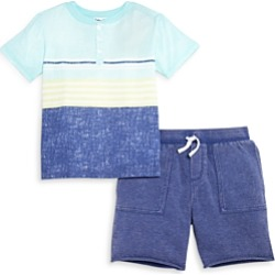 Splendid Boys' Sunkissed Striped Henley & Shorts Set - Little Kid found on Bargain Bro from Bloomingdales Canada for USD $40.38