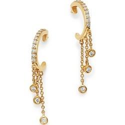 Bloomingdale's Diamond J Hoop Dangle Earrings in 14K Yellow Gold, 0.20 ct. t.w. - 100% Exclusive found on Bargain Bro UK from Bloomingdales UK