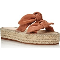Loeffler Randall Women's Daisy Open-Toe Leather Espadrille Platform Slide Sandals