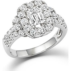 Emerald Cut Diamond Engagement Ring in 18K White Gold, 2.20 ct. t.w. - 100% Exclusive found on Bargain Bro UK from Bloomingdales UK
