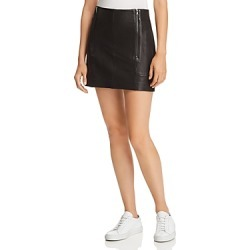 Frame Double-Zip Leather Mini Skirt found on Bargain Bro India from bloomingdales.com for $416.50