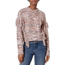 Joie Meghan Mixed Knit Fringe Sweater found on MODAPINS from bloomingdales.com for USD $348.00