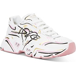 Dolce & Gabbana Women's Graffiti Logo Low Top Sneakers found on Bargain Bro from bloomingdales.com for USD $665.00