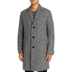 Hugo Malte Houndstooth Slim Fit Coat
