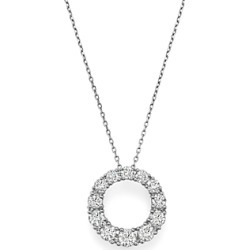 Bloomingdale's Diamond Open Circle Pendant Necklace in 14K White Gold, 1.50 ct. t.w. - 100% Exclusive found on Bargain Bro UK from Bloomingdales UK
