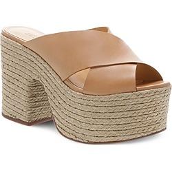 Schutz Women's Lora Leather Platform Espadrille Sandals