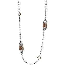 Lagos 18K Gold and Sterling Silver Caviar Color Station Necklace with Smoky Quartz, 34 found on Bargain Bro India from Bloomingdales Canada for $1311.13