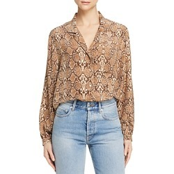 Anine Bing Lilah Printed Silk Shirt found on Bargain Bro India from Bloomingdale's Australia for $211.43
