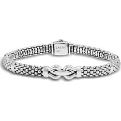 Lagos Derby Small Buckle Sterling Silver Caviar Bracelet found on Bargain Bro India from Bloomingdales Canada for $367.11