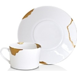 Bernardaud Kintsugi-Sarkis Breakfast Cup & Saucer, Set of 2 found on Bargain Bro Philippines from bloomingdales.com for $617.00