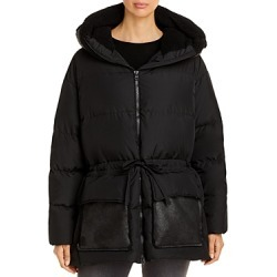 Bacon Giaga Mixed Media Coat found on MODAPINS from Bloomingdales UK for USD $1028.08
