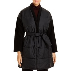 Eileen Fisher Contrast-Sleeve Open Front Coat found on Bargain Bro from Bloomingdales Canada for USD $181.57